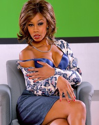Misty Stone plays the talk show queen Oprah only kinkier